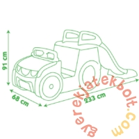 Smoby Adventure Car csúszda homokozóval (840205)