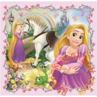 Trefl 3 az 1-ben puzzle (20,36,50 db-os) - Disney Hercegnők és a kiskedvenceik (34842)