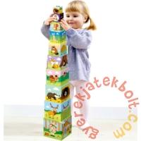 Trefl Baby toronyépítő kocka - Az erdőben (60664)