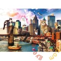 Trefl 1000 db-os puzzle - Funny Cities - Macskák New Yorkban (10595)
