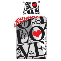 Szívecskés, Valentin-napi ágyneműhuzat szett