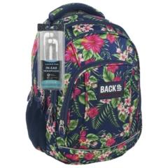 BackUp iskolatáska, hátizsák - 4 rekeszes - Trópusi virágok (PLB1A12)