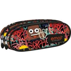 Emoji Graffiti kétrekeszes ovális tolltartó (242151)
