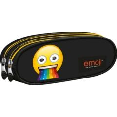 Emoji Rainbow kétrekeszes ovális tolltartó (242595)
