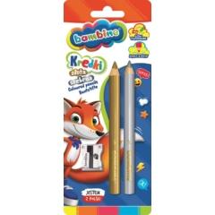 Bambino 2 db-os színesceruza készlet hegyezővel - Arany és ezüst (001888)