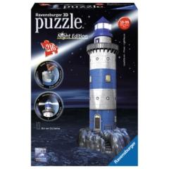 Ravensburger 216 db-os 3D Night Edition puzzle - Világítótorony (12577)