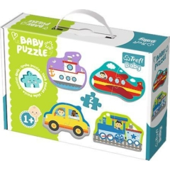 Trefl Baby Puzzle táskában - Első puzzle - Járművek (36075)