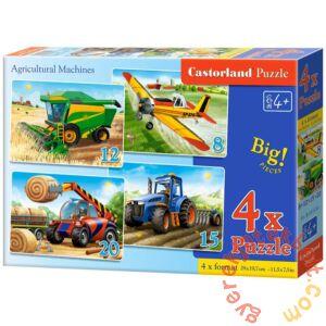 Castorland 4 az 1-ben puzzle (8,12,15,20 db-os) - Mezőgazdasági járművek (B-041039)