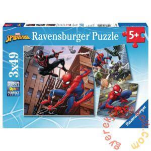 Ravensburger 3 x 49 db-os puzzle - Pókember kalandjai (08025)