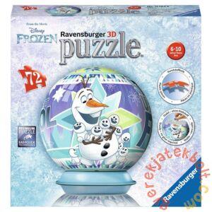 Ravensburger 72 db-os 3D gömb puzzle - Jégvarázs - Olaf (11764)