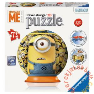 Ravensburger 72 db-os 3D gömb puzzle - Minyonok - Phil (12161)