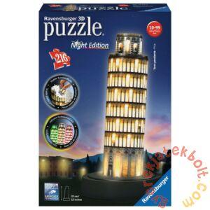 Ravensburger 216 db-os 3D Night Edition puzzle - Pisai ferde torony (12515)