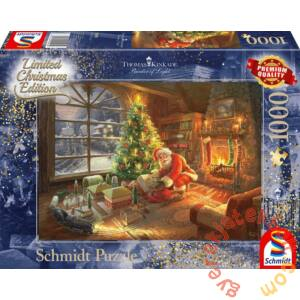 Schmidt 1000 db-os puzzle - Santa Claus is here!, Thomas Kinkade (59495)