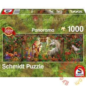 Schmidt 1000 db-os Panoráma puzzle - Fairy Tale Forest, Marchetti (59614)