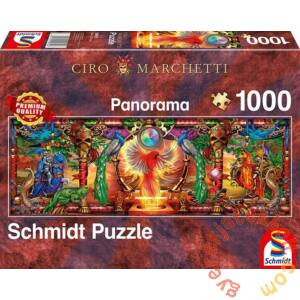 Schmidt 1000 db-os Panoráma puzzle - In the Kingdom of the Firebird, Marchetti (59615)