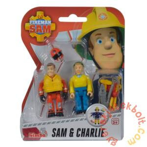 Simba Sam, a tűzoltó figura 2 db-os szett - Sam és Charlie (7651)