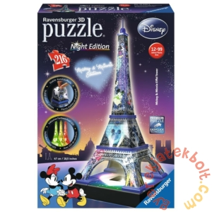 Ravensburger 216 db-os 3D Mickey & Minnie Night Edition puzzle - Eiffel-torony (12520)