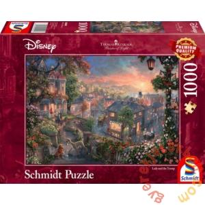 Schmidt 1000 db-os puzzle - Disney - Lady and the Tramp, Thomas Kinkade (59490)