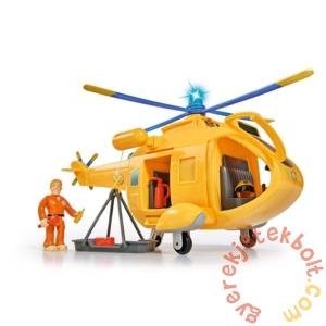 Simba Sam, a tűzoltó Wallaby 2 helikopter figurával (1002)
