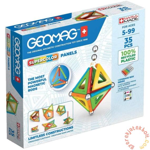 Geomag SuperColor Panels - 35 db-os mágneses építőjáték készlet