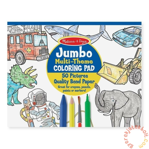 Melissa and Doug Jumbo színező - Kék (4226)
