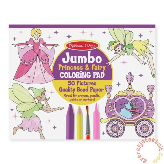 Melissa and Doug Jumbo színező - Hercegnők és tündérek (4263)