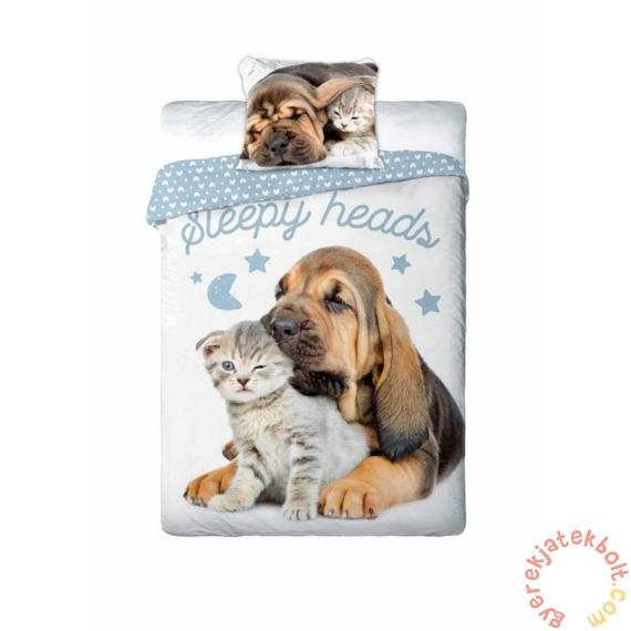 Best Friends kutyás-cicás ágyneműhuzat szett - Sleepy heads