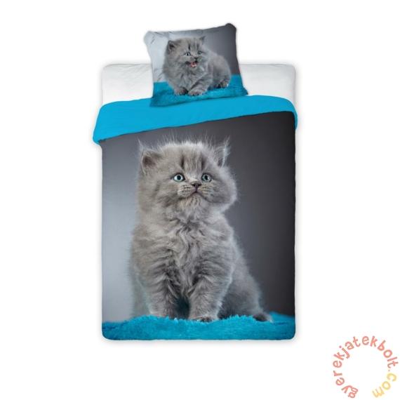 Best Friends cicás ágyneműhuzat szett - Szürke cica