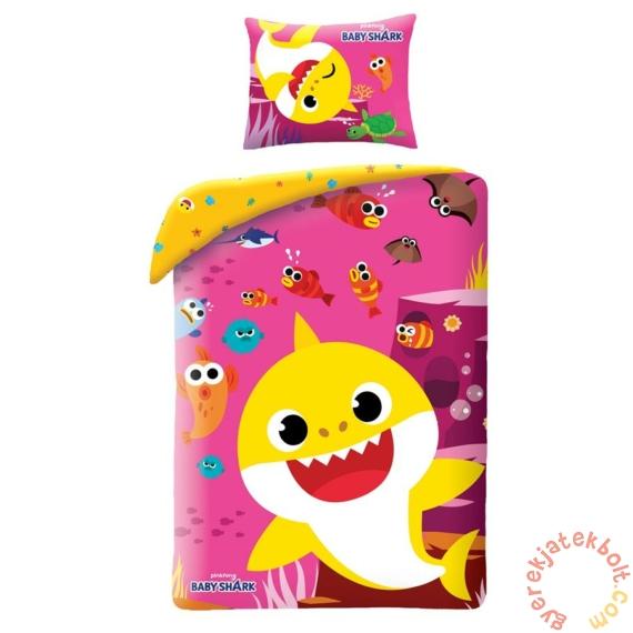 Baby Shark Ágyneműhuzat szett - Pink