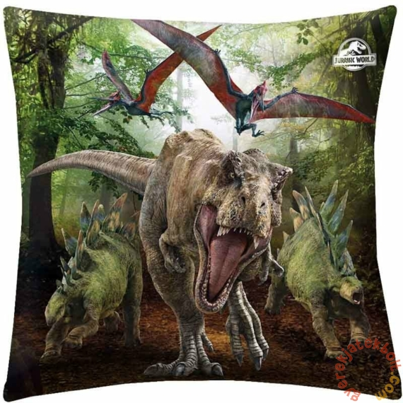 Jurassic World párna - Dinoszauruszok - 40 x 40 cm-es