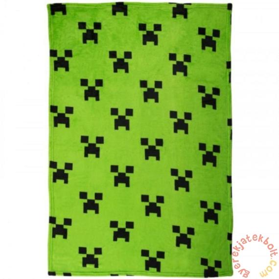 Minecraft polár takaró - Zöld