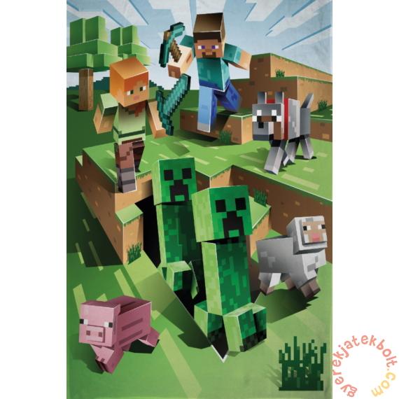 Minecraft polár takaró 130 x 170 cm