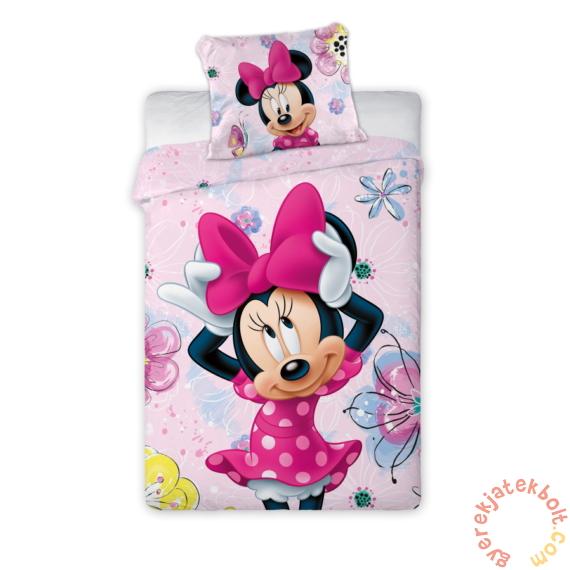 Minnie Mouse - Virágos ágyneműhuzat szett