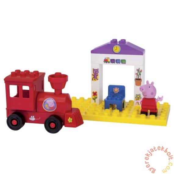 Play Big Bloxx Peppa malac - Mini vasútállomás építőszett (57072)