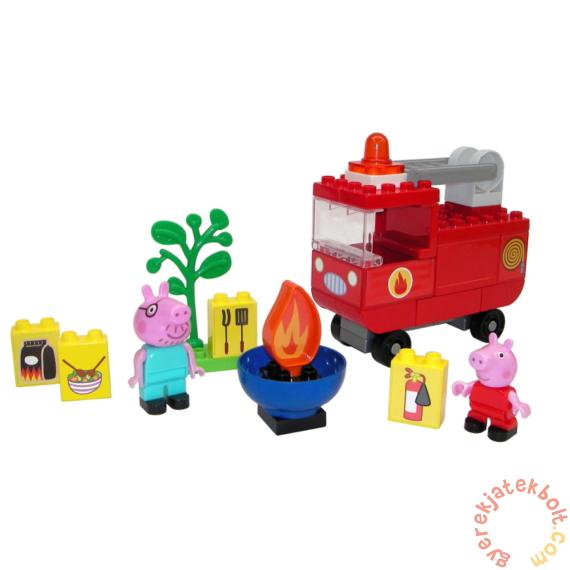 Play Big Bloxx Peppa malac - Tűzoltóautó építőszett