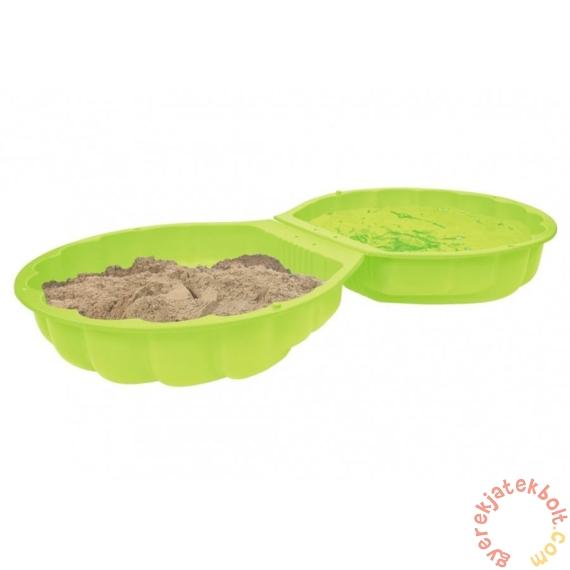 Kétrészes kagyló formájú homokozó - Zöld