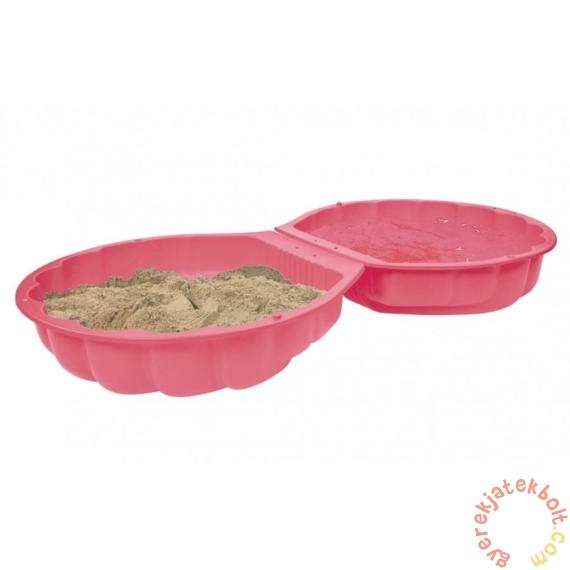 Kétrészes kagyló formájú homokozó - Pink