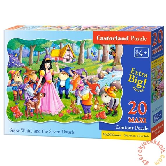 Castorland 20 db-os MAXI puzzle - Hófehérke és a hét törpe (C-02320)
