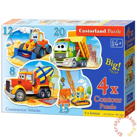 Castorland 4 az 1-ben puzzle (8,12,15,20 db-os) - Munkagépek (B-043040)