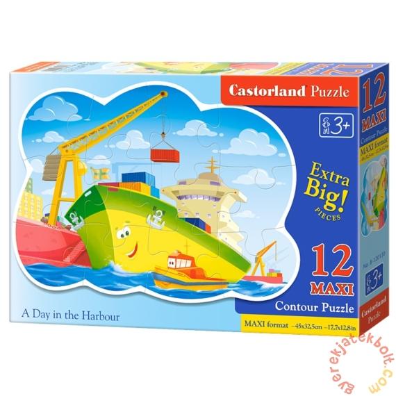 Castorland 12 db-os MAXI puzzle - Egy nap a kikötőben (B-120130)