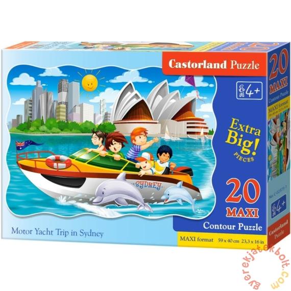 Castorland 20 db-os MAXI puzzle - Motorcsónakkal Sydney-ben (C-02375)