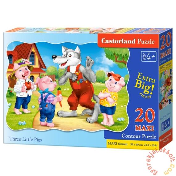 Castorland 20 db-os MAXI puzzle - A három kismalac (C-02399)