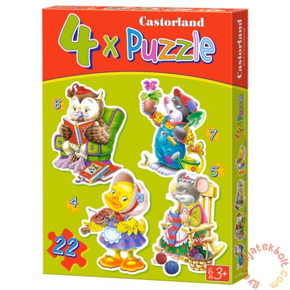 Castorland Sziluett puzzle (4,5,6,7 db-os) - Szabadidő (B-04225)