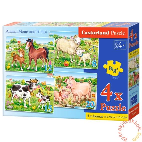 Castorland 4 az 1-ben puzzle (8,12,15,20 db-os) - Állatok és kicsinyeik (B-04416)