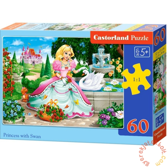 Castorland 60 db-os puzzle - Hercegnő hattyúval (B-066056)