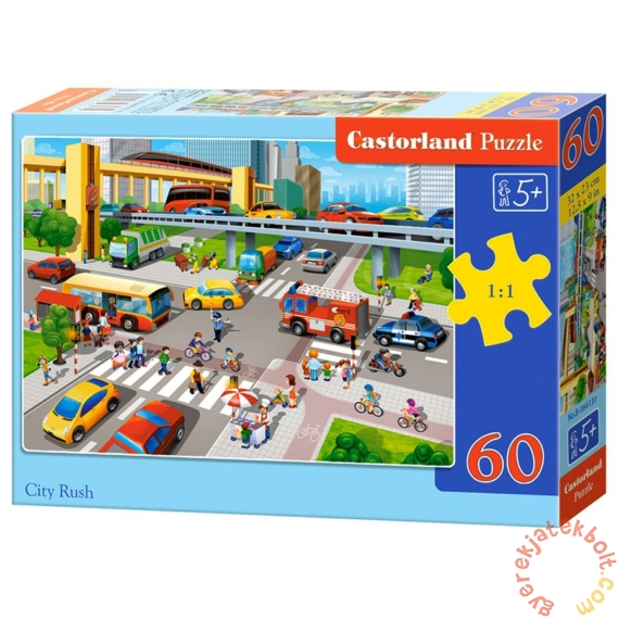 Castorland 60 db-os puzzle - Városi forgatag (B-066131)