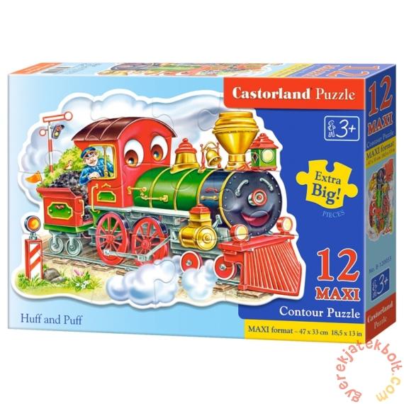 Castorland 12 db-os MAXI puzzle - Vidám vonatozás (B-120055)