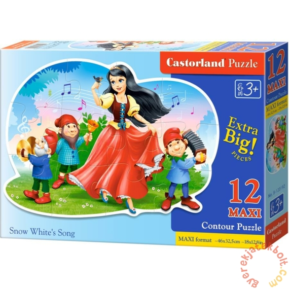 Castorland 12 db-os MAXI puzzle - Hófehérke dala (B-120192)