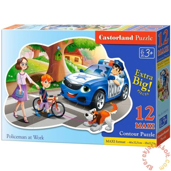 Castorland 12 db-os MAXI puzzle - Rendőr munka közben (B-120215)