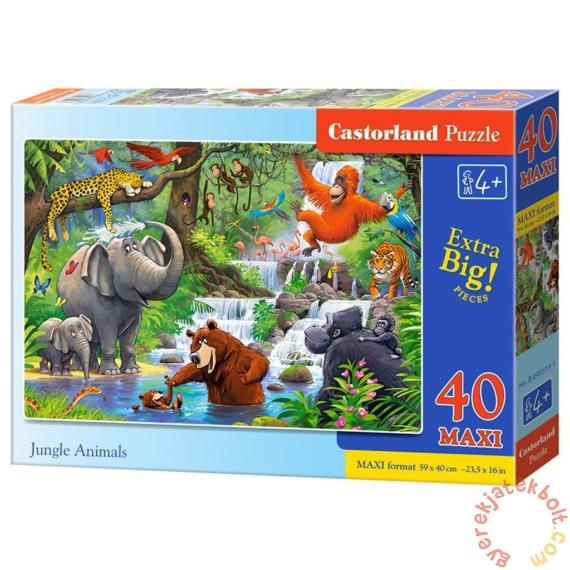 Castorland 40 db-os MAXI puzzle - A dzsungel állatai (B-040315)